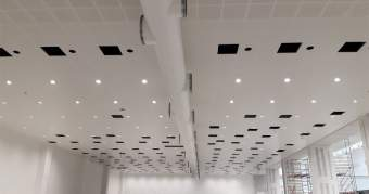 Installation point lumineux plafond